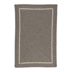 Colonial Mills, Inc. - Shear Natural, Rockport Gray Rug, 3'X5' - When you want comfort and warmth, you grab your favorite sweater. Get the same feeling on your floors. This dye-free wool rug is braided in the traditional style, yet looks timeless with modern squared corners and a contrasting border. It's also reversible so the comfort and warmth can last for years and years.