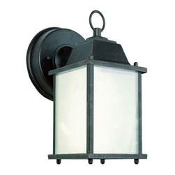Trans Globe Lighting - Purisma Energy Efficient Outdoor Coach In Rust - - Glass Type: Frosted - Rectangle  - Exterior use  - Energy Saving  - Material: Cast Aluminum  - Bulb not included  - Available in black, rust, or white with frosted glass  - Uses GU 24 bulb from 13 to 23 watts  - Made of cast aluminum and UL Listed for Wet locations  - Colonial outdoor energy saving fixture  - Outdoor energy saving lighting  - 1 Year Limited Warranty  - Standard mission outdoor coach light with round wall plate, tiered top cap, and a decorative top ring. GU 24 Down candle bulb in clear window box frame. Trans Globe Lighting - PL-40455RT