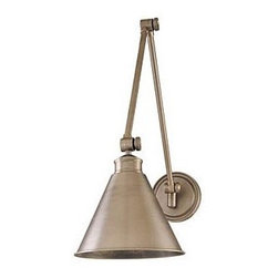 Hudson Valley Exeter Sconce   Lighting Universe - Not a lot of nightstand space? Use a classic wall sconce like this one in a small bedroom to leave your bedside table free for books and other nighttime necessities.