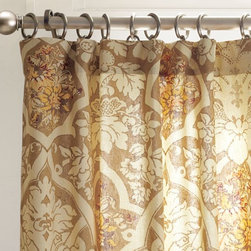 Camilla Drape - I love this fun floral drape set from Pottery Barn. The tan and brown tones paired with yellowy orange accents would be such a fun addition to an all neutral palette.