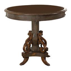 Uttermost - Uttermost - Anya Round Table in Charcoal Grey - 25508 - Features: