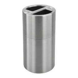 Safco Dual Recycling Receptacle Trash Can - About Safco ProductsSafco products were specifically developed to meet the changing needs of the business world, offering real design without great expense. Each product is designed to fit the needs of individuals and the way they work, by enhancing comfort and meeting the modern needs of organization in the workplace. These products encourage work-area efficiency and ultimately, work-life efficiency: from schools and universities, to hospitals and clinics, from small offices and businesses to corporations and large institutions, airports, restaurants, and malls. Safco continues to offer new colors, new styles, and new solutions according to market trends and the ever-changing needs of business life.