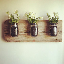 Mason Jar Wall Planter by Chateau Gerard