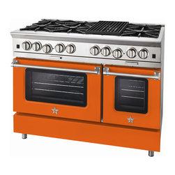 "BlueStar Platinum Series: 48"" Range - 48"" BlueStar Platinum Range in Traffic Orange (RAL 2009)"