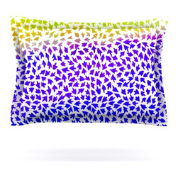 "Kess InHouse - Sreetama Ray ""Aqua Arrows"" Blue Purple Pillow Sham (Cotton, 30"" x 20"") - Pairing your already chic duvet cover with playful pillow shams is the perfect way to tie your bedroom together. There are endless possibilities to feed your artistic palette with these imaginative pillow shams. It will looks so elegant you won't want ruin the masterpiece you have created when you go to bed. Not only are these pillow shams nice to look at they are also made from a high quality cotton blend. They are so soft that they will elevate your sleep up to level that is beyond Cloud 9. We always print our goods with the highest quality printing process in order to maintain the integrity of the art that you are adeptly displaying. This means that you won't have to worry about your art fading or your sham loosing it's freshness."