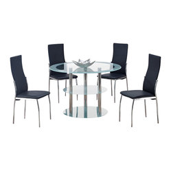 black vinyl five piece dining set the d79dt db841dc dining table
