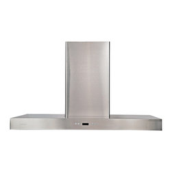 Ariel - Cavaliere-Euro SV218Z-42 Stainless Steel Wall Mount Range Hood, Rec. Kit - Cavaliere Stainless Steel 218W Wall Mounted Range Hood with 6 Speeds, Timer Function, LCD Keypad, Aluminum Grease Filters, and Halogen Lights