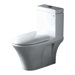 Ariel Bath - Ariel Milano Contemporary Toilet Dual Flush - Ariel cutting-edge designed one-piece toilets with powerful flushing system. Its a beautiful, modern toilet for your contemporary bathroom remodel.