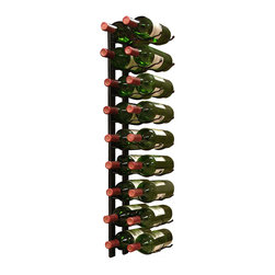 VinoTemp - Wine Rack 18 Bottle Epic Metal Wine Rack - This 18 bottle metal rack can be fastened to almost any wall surface. It features a sturdy metal construction and artfully displays your bottles with the labels visible for show. This unique wire rack consists of two identical racks that cradle each end of the body of your bottle for a dazzling display. Rack stores 2 bottles per row.