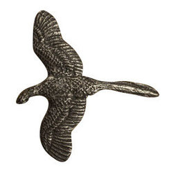 Anne at Home Hardware - Pheasant - Customize your kitchen with avian artistry. This impressive pewter pheasant — available as a cabinet knob or drawer pull — is crafted in the USA to add soaring style to your decor.