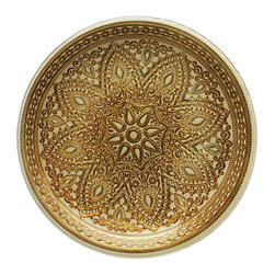 Jay Import Co. - Divine Charger Plate, Gold - Imagine arranging food around a mandala of golden coils. This charger plate will draw the eye to your table and add a feeling of tranquility to any meal.