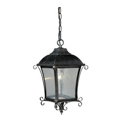 """Vaxcel - Vaxcel T0033 Sonnet 8-3/4"""" Outdoor Pendant - Vaxcel Lighting T0033 Sonnet Outdoor Pendant This Vaxcel Lighting product comes in a gold stone finish. It is offered with seeded glass. Works with one"""