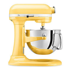 KitchenAid Professional 600 Series Bowl Lift Stand Mixer, Majestic Yellow - The Holy Grail of kitchen tools, this yellow KitchenAid mixer would brighten up your kitchen instantly.