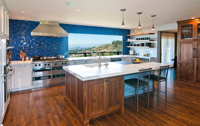 Eclectic Kitchen by Precision Cabinets