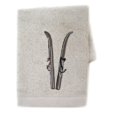 Chehoma - Chehoma Brown Skis Wash Cloth, Set of 4 - The holiday season is incomplete without a divine Chehoma brown skis wash cloth for the kitchen or bathroom. 100% combed cotton and carefully embroidered with delicate ski poles, these wash cloths are soft, absorbent and absolutely stunning. Feel free to mix and match with other wash cloths in the Chehoma collection or compliment your Chehoma brown skis wash cloth with one of Chehoma's assortment of scented soap boxes