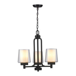 World Imports - Renee II 3-Light Chandelier, Oil Rubbed Bronze - All metal construction with a bronze finish