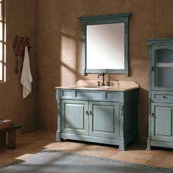 "48"" Catania Single Bath Vanity - Antique Ocean -"
