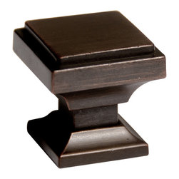Southern Hills - Southern Hills Oil Rubbed Bronze Square Cabinet Knobs (Pack of 5) - These stylish oil rubbed bronze square knobs are the perfect way to spruce up your cabinets. Each of these five zinc alloy knobs are individually bagged and include mounting screws.