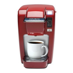 Keurig K10 Mini Plus Personal Coffee Maker - Red - You may have an excellent assistant or a really good crop of interns, but the best member of your support staff is going to be the Keurig K10 Mini Plus Personal Coffee Maker – Red. A convenient shape fits anywhere in your home or office and uses standard K-cups (6 K-cups included!) that are much easier to find than pre-portioned coffee products. Designed to produce single cups of rich java, tea, cocoa, or iced coffee exactly when you need them, this compact coffee maker brews in just under a minute in your choice of three cup sizes. The power-saving design shuts off after 30 seconds, and the single-use reservoir and drip tray are easy to clean. About KeurigCustomers have come to expect nothing less than excellence when it comes to Keurig. In 1998, Keurig introduced their patented single-cup brewing system that simplifies and enhances the process for brewing one cup of coffee, which takes less than a minute and is as easy as could be. Now, Keurig is the leading single-cup brewing system in North America. With the expectation that coffee should always be served fresh, Keurig's mission is to provide state-of-the-art brewer technology and unique packs to consistently deliver the perfect cup of coffee.