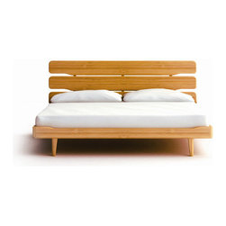 Greenington - SCurrant Bamboo Platform Bed - This unique style completes traditional decor as well as contemporary. The stylish, elegant, and airy Currant collection is reminiscent of vintage Mid-Century Danish Modern styling. Features: -Material: 100% Bamboo.-High quality.-Certificated: ISO 9000 and ISO 14000.-Fully sustainable, environmentally friendly.-Currant collection.-Distressed: No.-Collection: Currant.Dimensions: -Overall Product Weight: 189.2 lbs.