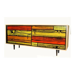 Wrongwoods small sideboard (red/yellow) - There's your typical sideboard, then there's this psychedelic faux bois version from designer Sebastian Wrong and artist Richard Woods. If you're looking to make a major statement in a room, this one is the obvious choice.