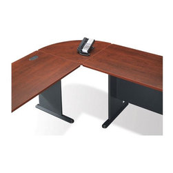 Bush Business - Corner Desk Connector in Hansen Cherry - Seri - With our Corner Connector ��� Hansen Cherry one plus one adds up to more than twice the space.  This cleverly designed unit can be used to turn any two of our Hansen desks into a very roomy and stylish single unit. * Connects two desks in L shape. PVC edge banding. Diamond Coat� top surface is scratch and stain resistant. Hansen cherry finish. Assembly required. 26.811 in. W x 26.811 in. D x 1.000 in. H
