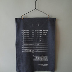 Handy Kitchen Conversion Chart Tea Towel by Knife in the Water - This tea towel makes itself useful by providing a quick conversion chart.