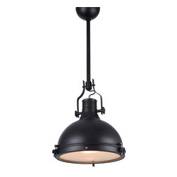 "Bromi Design - Bromi Design Essex 1-Light 16"" Pendant - Bold in black, this industrial-inspired beauty adds light and style to any space. Hang it in your kitchen, bathroom, entryway, hallway — or anywhere else in need of a marvelously modern statement."