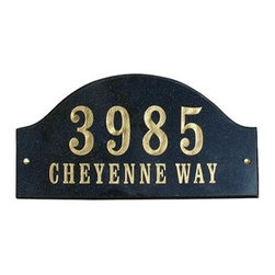 "Qualarc, Inc. - Solid Granite Address Plaque, Ridgecrest Arch, Autumn Leaf Natural - Solid Granite Address Plaque in Autumn Leaf Natural Stone Color (Includes One line Engraved 4"" Numbers or text)"