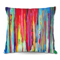 DiaNoche Designs - Pillow Woven Poplin - Neon Abstract - Toss this decorative pillow on any bed, sofa or chair, and add personality to your chic and stylish decor. Lay your head against your new art and relax! Made of woven Poly-Poplin.  Includes a cushy supportive pillow insert, zipped inside. Dye Sublimation printing adheres the ink to the material for long life and durability. Double Sided Print, Machine Washable, Product may vary slightly from image.