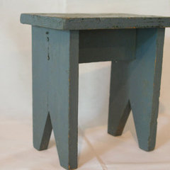 traditional outdoor stools and benches by Etsy