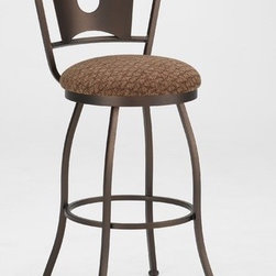 "Tempo - Brady 26"" Swivel Counter Stool - Tempo was founded in 1970 and is recognized today as the fashion leader for casual dining, pub tables and barstools. The companys product line features contemporary, transitional and traditional styling. Tempo is recognized for its commitment to quality, comfort, and a broad assortment of custom choices that feature high performance fabrics, durable non-toxic powder coat finishes, glass and wood tops in a variety of sizes and chairs that feature stationary seating, swivel and tilt swivel designs. Thank you for selecting Tempo to become part of your home décor. Features:  -26"" Backless Swivel Counter Stool. -Customize the Brady counter stool to suit your needs. -Over 50 fabric options and 18 finishes to choose from. -Constructed for commercial or residential use. -16 Gauge steel. -Some assembly required. -Seat height: 26"". All Tempo Metal stools utilize a commercial grade 16 guage stainless steel. These are the most durable stools in the industry. TEMPO INDUSTRIES, INC. warrants its iron metal product construction to be free from defects in workmanship and materials for the life of the product. Fabric coverings and moving parts are not covered by this warranty."