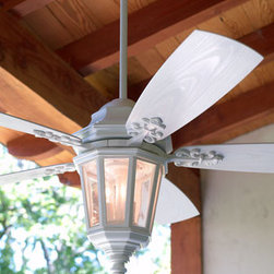 """Dimone"" Patio Ceiling Fan - Crafted for use outdoors, the ""Dimone"" Patio Ceiling Fan will help keep you cool this summer as you entertain on your porch or patio.  This fan even has a wall control included."