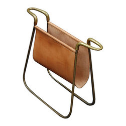 Carl Aubock Magazine Holder - I would use this brass magazine holder to make my extensive magazine collection more defined.