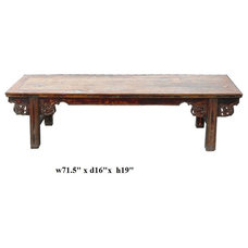 asian benches by Golden Lotus Antiques
