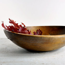 Antique Rustic Harvest Bowl by Haven Vintage - This rustic wooden bowl would look great filled with your favorite fall foliage.