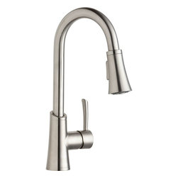 Elkay - Single Lever Pull Down Bar Faucet LS - Product height: 2.76. Product min width: 9.06. Product depth: 22.83 sgl lvr pd bar fct ls. Elevate the culinary experience with the professional grade gourmet collection. Meticulous attention to form and function creates a new standard for the connoisseur. Gourmet pull-down bar / prep faucet 14 gauge.
