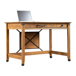 Sauder - Sauder Registry Row Writing Desk in Amber Pine - Sauder - Writing Desks - 412477