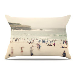 "Kess InHouse - Catherine McDonald ""Bondi Beach"" Coastal People Pillow Case, King, 36""x20"" - This pillowcase, is just as bunny soft as the Kess InHouse duvet. It's made of microfiber velvety fleece. This machine washable fleece pillow case is the perfect accent to any duvet. Be your Bed's Curator."