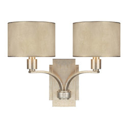Capital Lighting - Capital Lighting Traditional 2-Light Wall Sconce X-014-GW7201 - You simply can't go wrong when decorating with this Capital Lighting Traditional 2-Light Wall Sconce. It features two gently curved arms in a stunning, winter gold finish that support two moonlit mica, stay-straight shades. It's a stunningly spectacular fixture piece that effortlessly combines metropolitan style with timeless elegance.