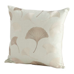 Cyan Design - Cyan Design Secret Garden Pillow, Sage Green - -Sage Green Finish
