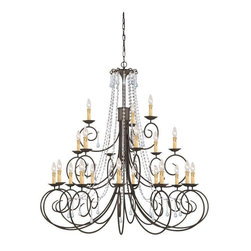 Crystorama Lighting - Crystorama Lighting 5219-DR-CL-SAQ Soho Transitional / Eclectic Chandelier - Crystorama Lighting 5219-DR-CL-SAQ Soho Transitional / Eclectic Chandelier In Dark Rust With Clear Swarovski Spectra Crystal