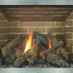 Stoll Manhattan Hidden Frame Fireplace Glass Door Bar Iron - Custom Product -