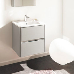 Ambiance Bain - Ambiance Bain | Dolce Small Vanity - Made in France by Ambiance Bain.The Dolce Small Vanity is a sleek and reliable addition to master bathrooms undergoing a remodel. This all-inclusive vanity comes complete with a bacteria-resistant counter top and sink, with durable and customizable drawers. Perfect for storage of all kinds, this modern vanity will enhance the overall appeal of luxury bathrooms. Also available in a large version.Product Features: