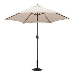 9-foot Aluminum Thermometer/Lighted Umbrella with Crank and Tilt - Market umbrellas are a classic way to keep your guests and family cool all summer long.