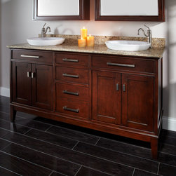 "60"" Light Espresso Madison Double Vanity for Semi-Recessed Sinks - The impressive Madison Double Vanity is the perfect focal point for a large bathroom, as it features ample counter and storage space."