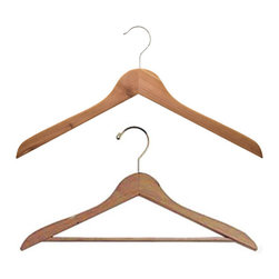 Basic Cedar Shirt Hangers - Cedar hangers are wonderful no matter how large or small your home. They help prevent moths and create a chic, uniform look behind your closet doors.