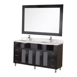 "Design Element - Design Element DEC096 Bello 61"" Double Sink Vanity Set in Espresso - Design Element DEC096 Bello 61"" Double Sink Vanity Set in Espresso"