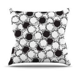 "Kess InHouse - Nandita Singh ""Beaded Bangles"" Black White Throw Pillow (16"" x 16"") - Rest among the art you love. Transform your hang out room into a hip gallery, that's also comfortable. With this pillow you can create an environment that reflects your unique style. It's amazing what a throw pillow can do to complete a room. (Kess InHouse is not responsible for pillow fighting that may occur as the result of creative stimulation)."