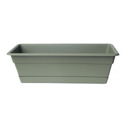 Bloem - Bloem 36in Dura Cotta Window Box Living Green DCBT36-42 - Plastic planters offer affordable beauty without heavy weight or risk of breakage.